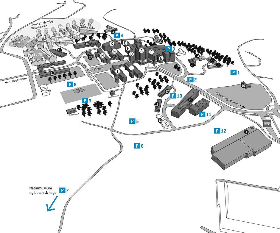 uia kart Parkering Campus Kristiansand   Universitetet i Agder uia kart