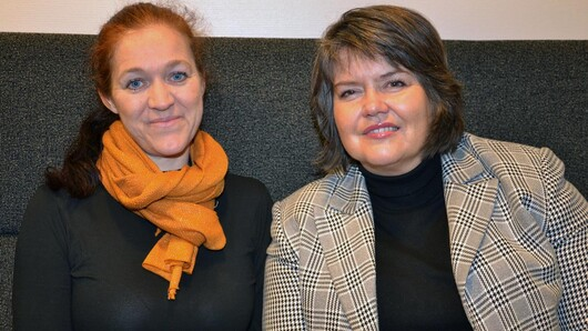 Anita Øgård-Repål and Mariann Fossum, photo