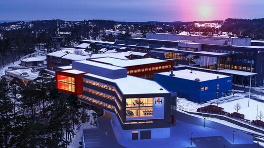 I4Helse building on Campus Grimstad, illustration