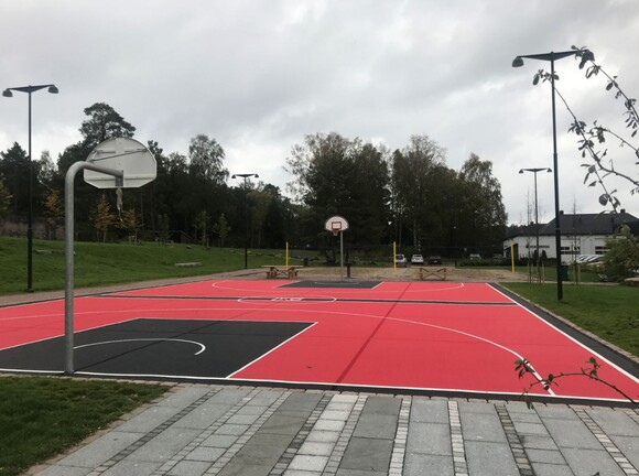 Street basketball and sand volleyball courts are now also part of the park area.