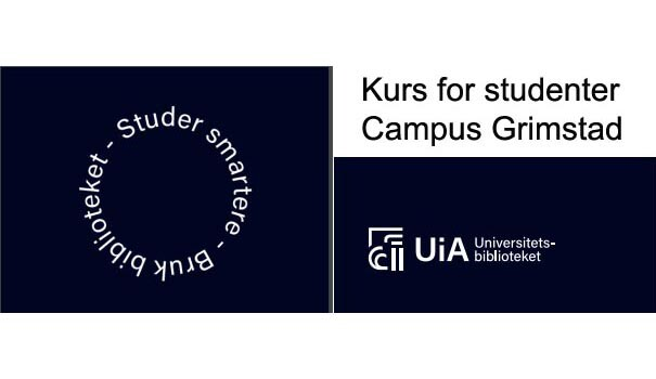 University Library - courses for students spring 2020 - Campus Grimstad - logo.