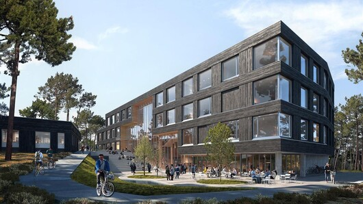 Illustration of the new bulding in Grimstad