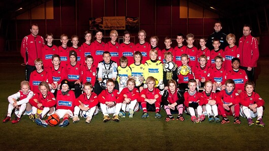 Bryne football club, boys 12 group in 2011, photo