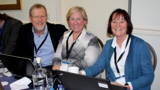 Rune Fensli (Senter for eHelse og omsorgsteknologi – Universitetet i Agder), Wenche Tangene (Sørlandet Sykehus) og Ragni Leifson (Senter for eHelse og omsorgsteknologi -Universitetet i Agder)
