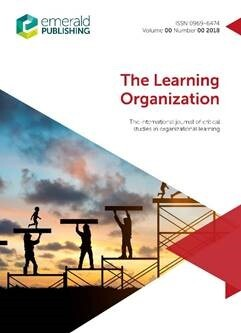 "Picture of the magazine ""The Learning Organization""."