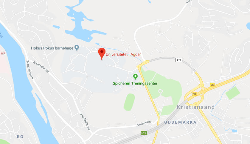 Google map Kristiansand