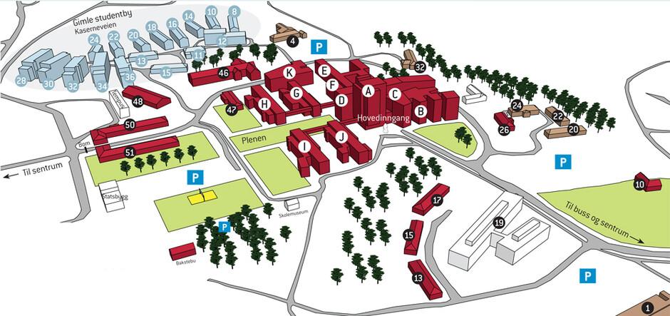 uia kart Campus Kristiansand map   Universitetet i Agder uia kart
