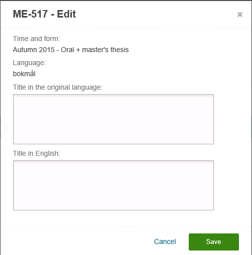 How to register title in Studentweb, edit title