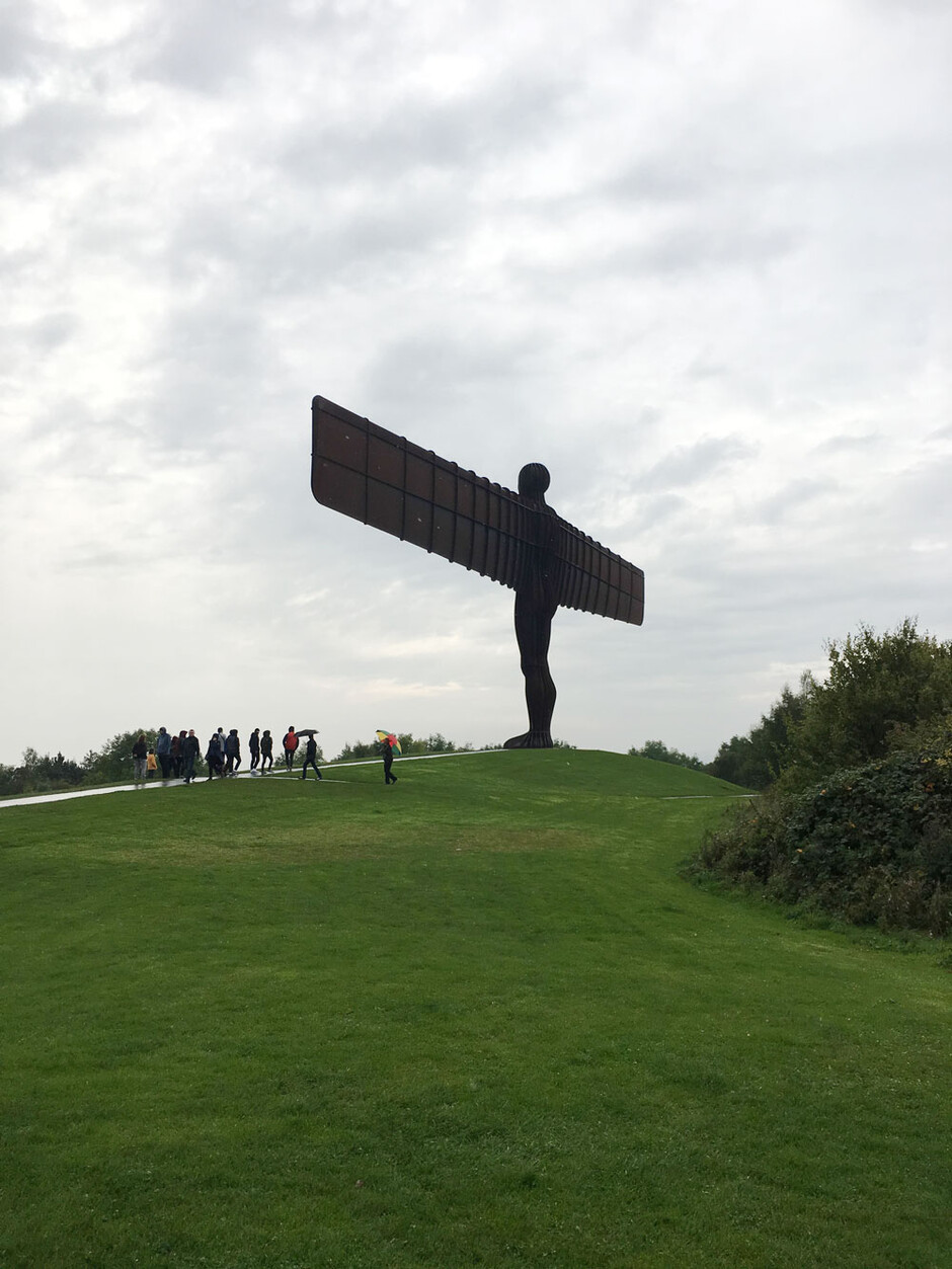 Angel of the North utenfor Newcastle (foto)