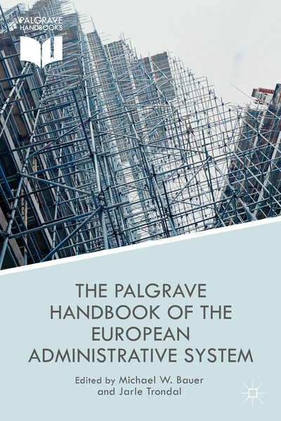 Cover-foto av boken The Palgrave Handbook of the European Administrative System.