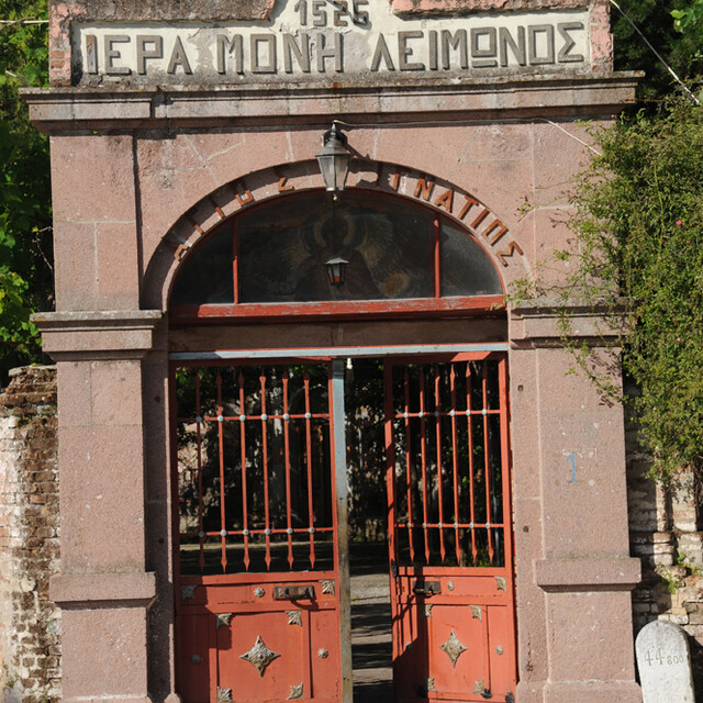 The entrance gate at Limonos